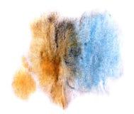 Апельсин современного искусства, чернота, задняя часть голубого художника avant-предохранителя безшовная Стоковая Фотография RF