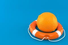 Апельсин с томбуем жизни иллюстрация вектора