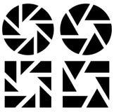 Апертура любит символ Круговой значок с ламеллами Стоковые Изображения RF