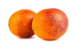 2 апельсина красного цвета крови Стоковая Фотография