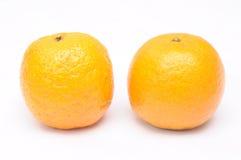 2 апельсина мандарина Стоковые Изображения RF