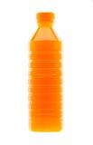 Апельсиновый сок в пластичной бутылке Стоковая Фотография