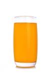 Апельсиновый сок в стекле highball на белой предпосылке Стоковые Изображения RF