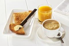 Апельсиновый сок здравицы кофе Стоковое Изображение