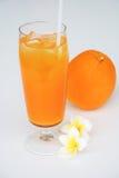 Апельсиновый сок и апельсин стоковое изображение