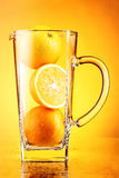 Апельсиновый сок схематический Стоковые Фотографии RF