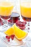 Апельсиновый сок с sirup гренадина Стоковое фото RF