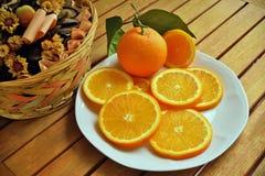 Апельсины, бананы, киви, Стоковая Фотография RF