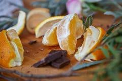 Апельсины времени чая и шоколад 4 Стоковые Изображения RF