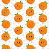 Апельсины, картина вектора безшовная Стоковое Фото