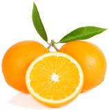 Апельсины, половинный и весь Стоковые Фотографии RF
