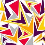 Апельсин вектора абстрактный, предпосылка треугольников Картина Иллюстрация штока