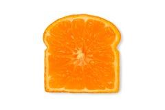 Апельсин в форме куска хлеба Стоковое Изображение