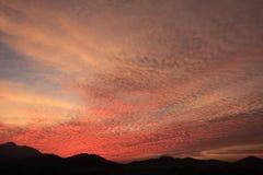Апельсин захода солнца неба Стоковые Изображения