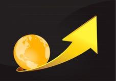 Апельсин земли стрелки Стоковая Фотография RF