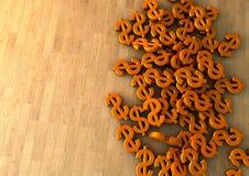 Апельсин знака доллара Стоковые Фотографии RF