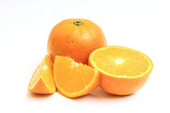Апельсин изолированный на белой предпосылке Стоковые Изображения RF