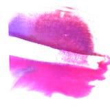 Апельсин искусства, фиолетовый шарик краски чернил акварели Стоковые Изображения RF