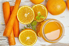 Апельсин и морковь Стоковые Фотографии RF