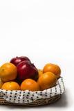 Апельсин и Яблоко Стоковые Фото