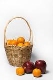 Апельсин и Яблоко Стоковое Изображение RF