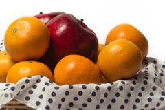 Апельсин и Яблоко Стоковая Фотография