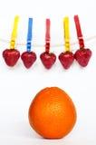 Апельсин и ягоды Стоковые Изображения RF