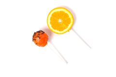 Апельсин и cakepops Стоковое фото RF