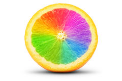 Апельсин как спектр Стоковое Изображение RF