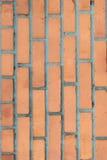 Апельсин, коричневая стена сделанная кирпича для предпосылок и текстуры Стоковая Фотография RF