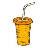 Апельсин, который нужно пойти чашка Стоковая Фотография RF