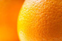Апельсин - макрос Стоковое Фото
