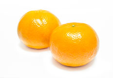 Апельсин на белой предпосылке Стоковое Изображение