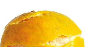 Апельсин отделенный с белой предпосылкой Стоковые Изображения