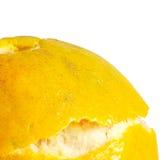 Апельсин отделенный с белой предпосылкой Стоковые Изображения RF