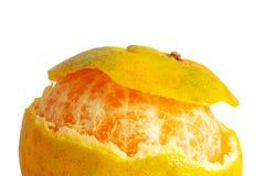 Апельсин отделенный с белой предпосылкой Стоковая Фотография