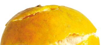Апельсин отделенный с белой предпосылкой Стоковое Изображение