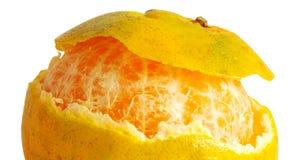 Апельсин отделенный с белой предпосылкой Стоковое Фото