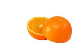Апельсин раздела Стоковое Изображение