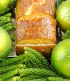 Апельсин рождества и торт булочки лимона Стоковое Изображение