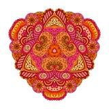 Апельсин-розовая мандала Стоковое Изображение