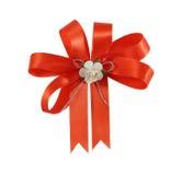 Апельсин смычка подарка для подарка Стоковое Изображение RF