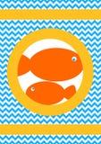 Апельсин удит поздравительную открытку Стоковое Изображение RF