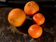 Апельсин, tangerines Стоковые Фотографии RF