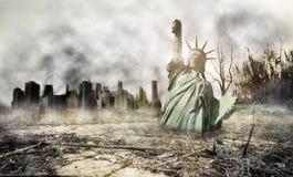 Апокалипсис в Нью-Йорке Стоковое фото RF