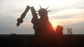 Апокалипсис США, Америки Нью-Йорк разрушенный взглядом, статуя свободы Концепция апокалипсиса перевод 3d Стоковые Изображения