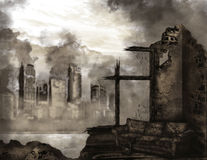 Апокалипсис иллюстрация штока