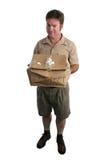 апологетический работник доставляющий покупки на дом Стоковые Фото