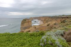 12 апостола, большая дорога океана, Виктория Австралия октябрь 2017 Стоковое Фото