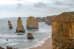 12 апостола, большая дорога океана, Виктория Австралия октябрь 2017 Стоковая Фотография RF